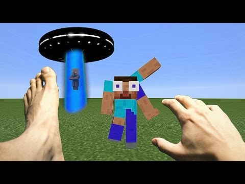 REALISTIC MINECRAFT ~ ALIENS vs STEVE