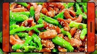 맛있는 밥도둑 꽈리고추 소시지 볶음 만들기, 양념 대충…