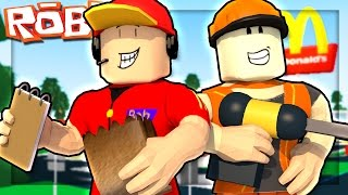 WORKING AT A JOB IN ROBLOX!