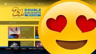 FREE PS4 4K HD THEME - PS PLUS DOUBLE DISCOUNTS GAMES