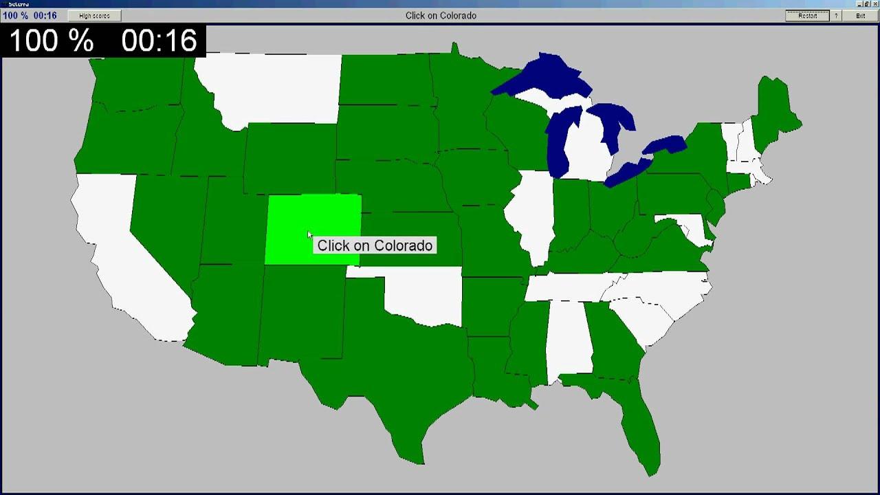 Seterra Us Map Quiz.D Jarl Seterra Usa States 44 Seconds Youtube