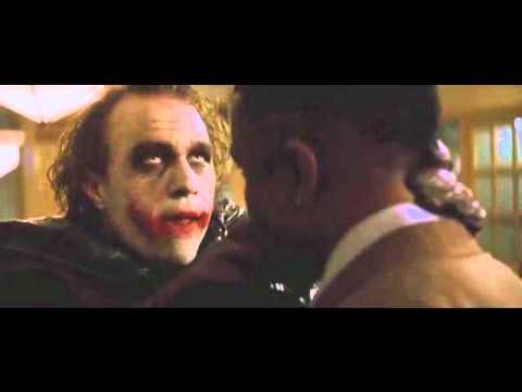 the joker  The Dark Night( El verdadero español Latino)