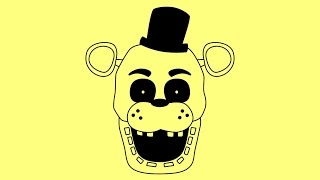 How to draw Five nights at Freddy s characters Golden Freddy Как нарисовать Голден Фредди