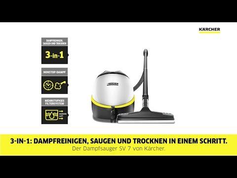 Kärcher SV 7 Dampfsauger - Anwendung