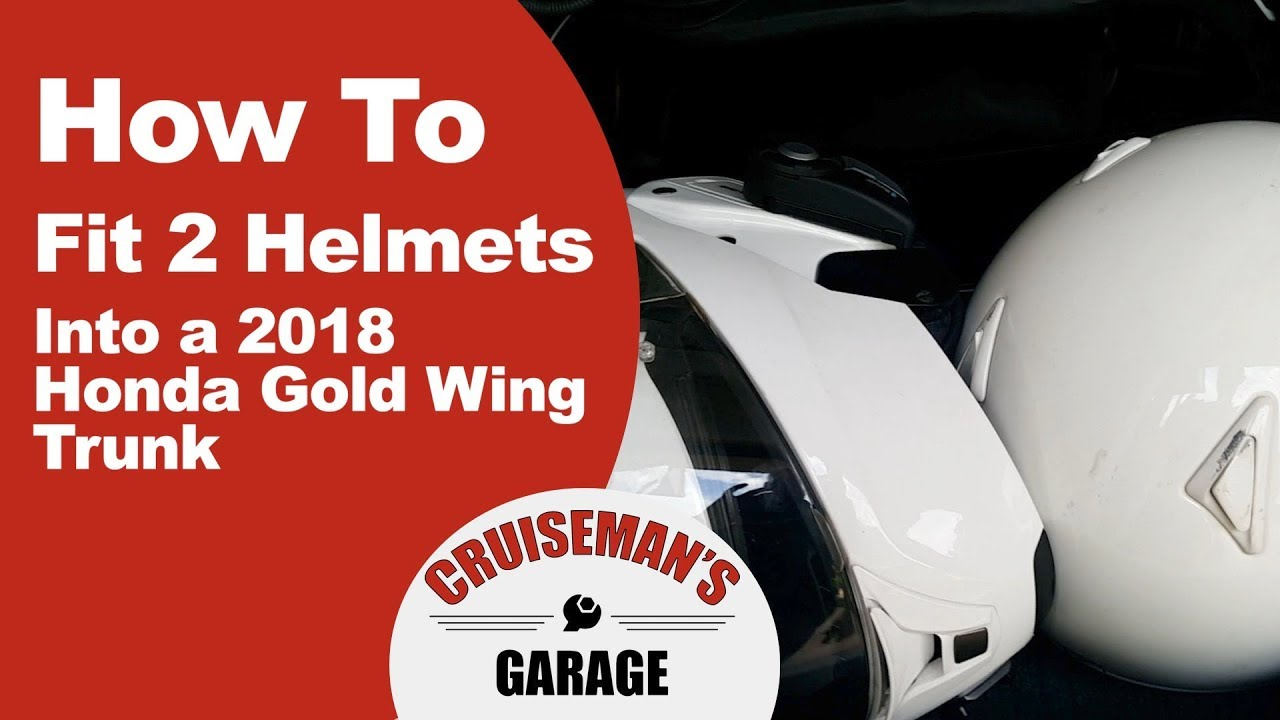 Video How To Fit Two Helmets in a 2018 Honda Gold Wing Trunk