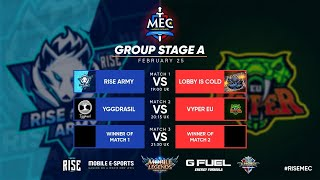MEC Europe | Group Stage A |  Top 1 Global Squads Mobile Legends Tournament
