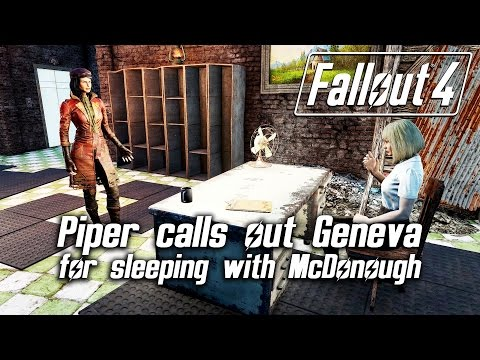Fallout 4 - Piper calls out Geneva for sleeping with McDonough