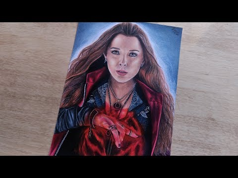 Speed Drawing Scarlet Witch (AVENGERS COLLAB)