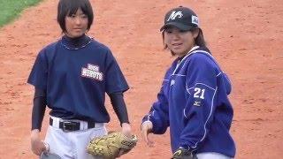 2016.4.16 春野球場で行われている、侍ジャパン女子代表候補合宿におい...
