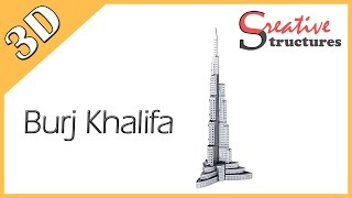 3D metal model & puzzle - Burj Khalifa (International Architecture)
