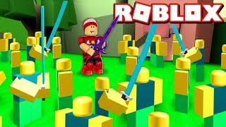 NOOBS ARMY in the NEW MYSTERIOUS AREA at ROBLOX → Army Control Simulator 🎮