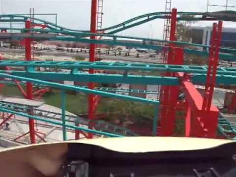 Himalaya Roller Coaster POV Adhari Park in Bahrain On-Ride Spinning Rollercoaster