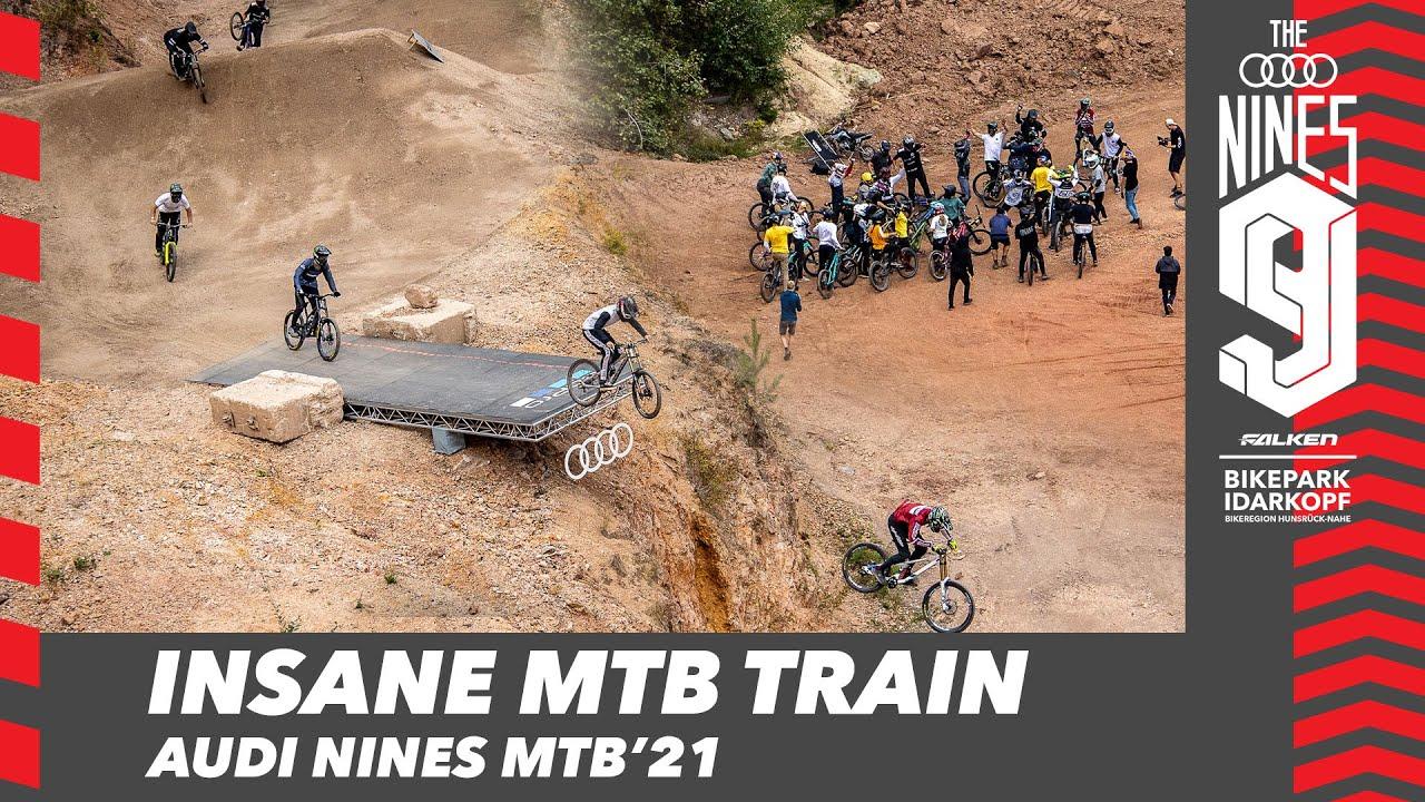 INSANE MOUNTAINBIKE TRAIN - Audi Nines MTB'21