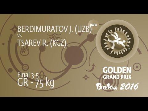 BRONZE GR - 75 kg: R. TSAREV (KGZ) df. J. BERDIMURATOV (UZB), 4-2