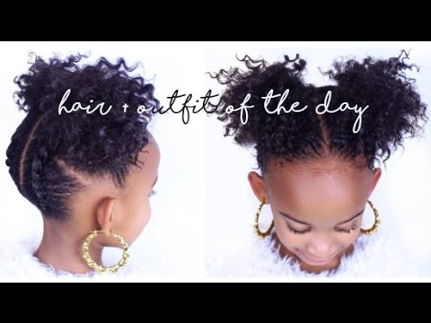 3 Easy Natural Hair Styles For Kids Yolanda Renee Youtube