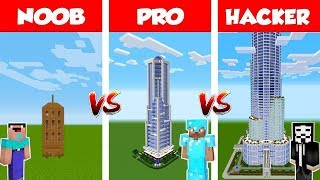 Minecraft NOOB vs PRO vs HACKER: Epic Skyscraper BATTLE in Minecraft / Animation