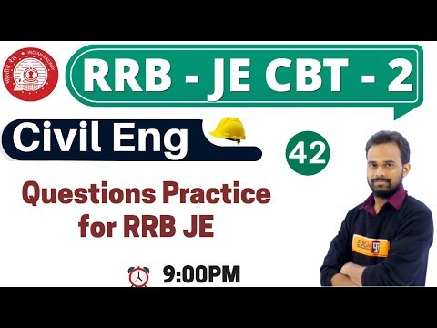 Class 42   #RRB JE (CBT - 2)    Civil Eng.    By Ketan Sir    Questions Practice for RRB JE