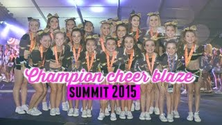 Champion cheer blaze - summit 2015 - small senior 2