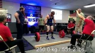 Patrick The Cannon Castelli 606 lbs deadlift at 165 bodyweight - USPA Full Meet