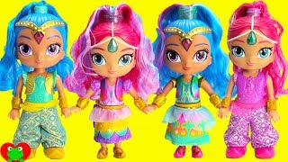 Shimmer and Shine Rainbow Zahramay Wish and Twirl Dolls LOL Surprise Confetti Pop