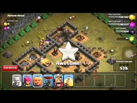 Clash of Clans Level 28: Arrow Head (walkthrough)