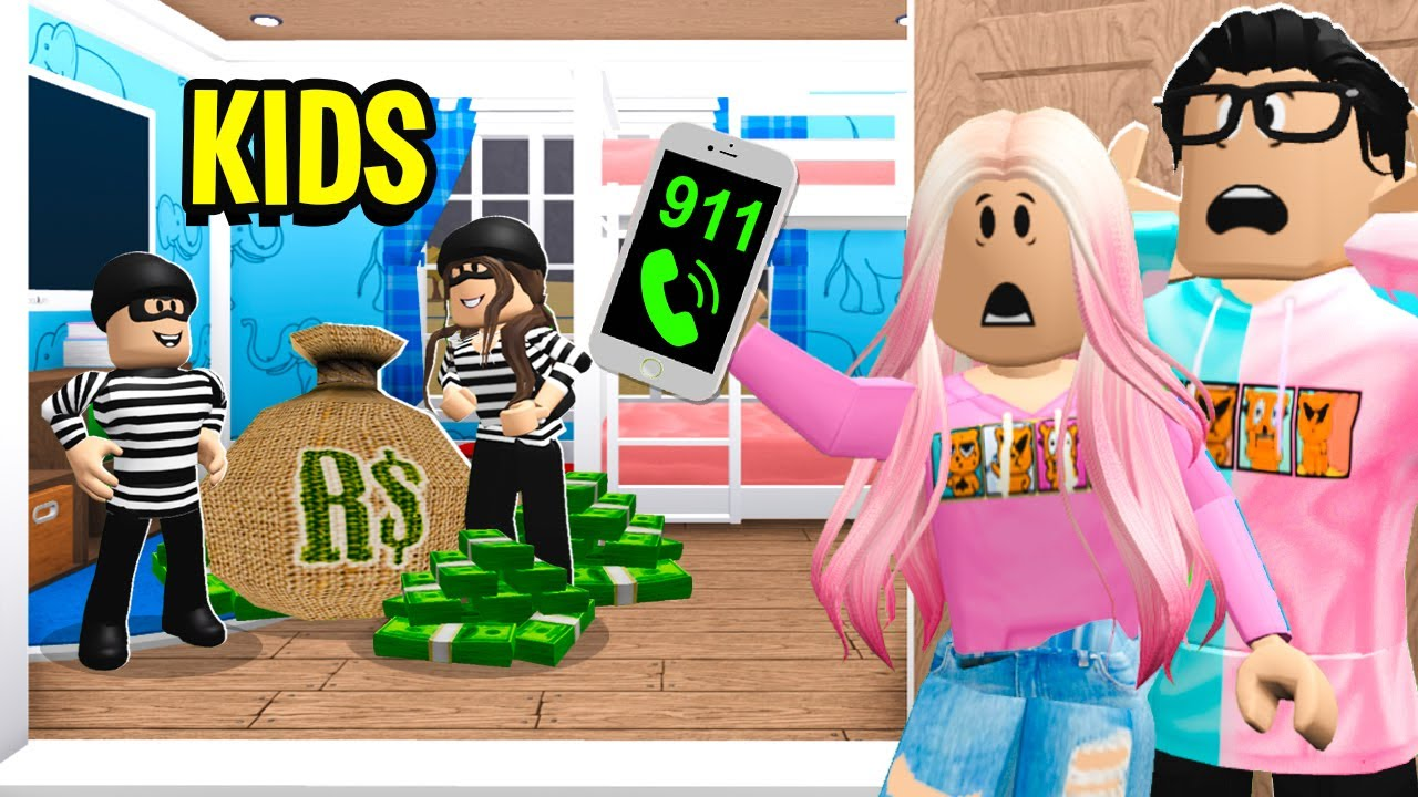 Our Kids Committed CRIMES.. We Had To Call COPS! (Roblox Bloxburg)