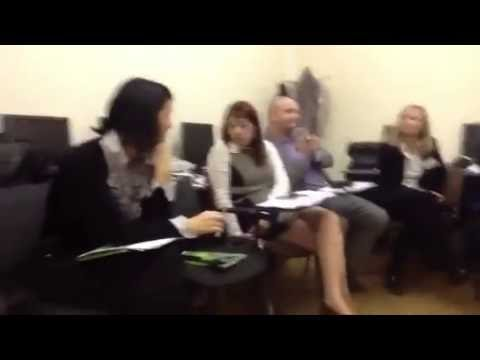 Переговоры на тренинге для руководителей отделов СберБанка России, бизнес тренер Роман Павловский