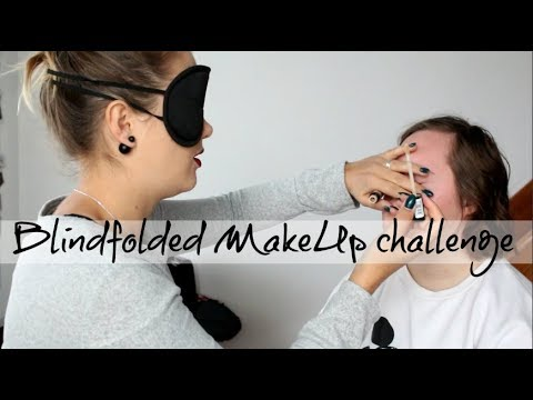 BLINDFOLDED MAKEUP CHALLENGE ft. Gabi - Debela Barbara