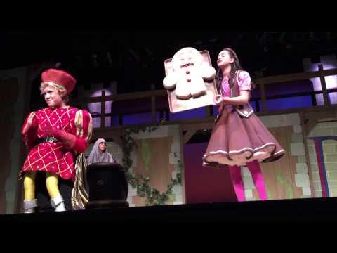 Shrek Jr at the Florida Repertory Theatre. Lord Farquaad and Gingerbread scene. May 30, 2015