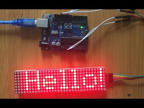 ARDUINO SCROLLING TEXT DISPLAY USING PAROLA LIBRARY
