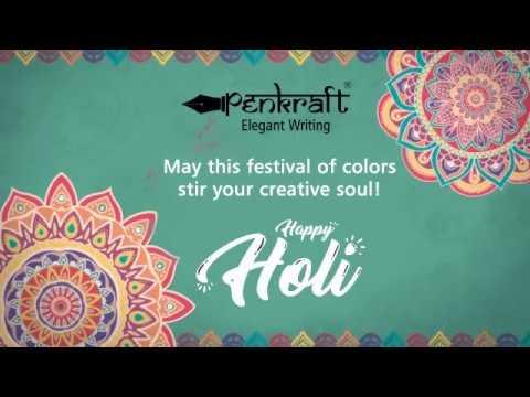 Happy Holi By Penkraft | A Dash Of Color || A Streak Of Creativity| Penkraft