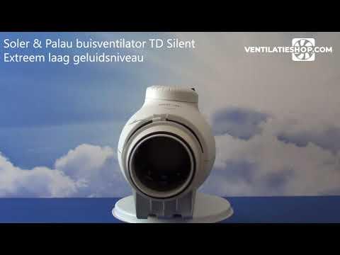 Soler & Palau Buisventilator TD 350125 Silent, aansluitdiameter 125mm