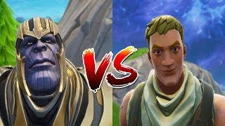 FORTNITE Thanos Vs Noob/Never underestimate No Skin!