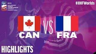 Canada vs. France - Game Highlights - #IIHFWorlds 2019
