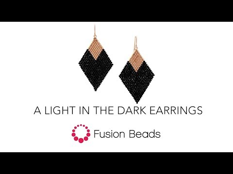 Watch how to stitch A Light in the Dark Earrings by Fusion Beads
