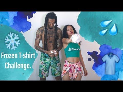 FROZEN T-SHIRT CHALLENGE (HILARIOUS) Loser takes a cold shower!