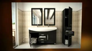 "48"" Celine Double Sink Modern Bathroom Vanity Furniture Cabinet"