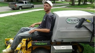 How To Use WALKER MOWR MTGHS, Lawn Care Vlog #46