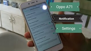 How to switch on oppo A71 notification led light