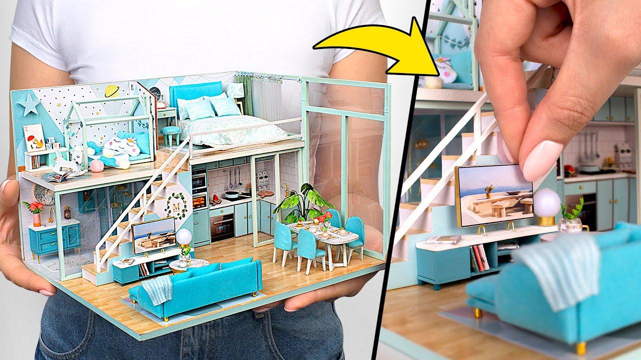 Kit de casa de bonecas aconchegante   Faça Sua Casa dos Sonhos! 🏡❤️