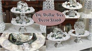 DIY DOLLAR TREE HOME DECOR | DIY GLAM MIRROR DISPLAY STAND| PETALISBLESS thumbnail