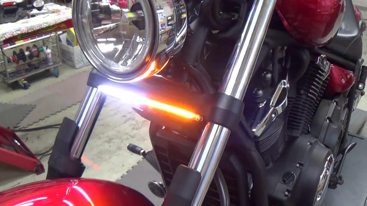 medium resolution of yamaha stryker front drl led turn signal bar