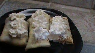 Strawberrry Cream Cheese Crepes