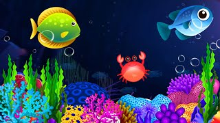 Lullabу and Calming Undersea Animation. Lullaby Aquarium . Soothing fishes. Baby Sleep Music.