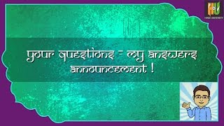 Learn Hindi: Your questions, my answers -- Announcement!