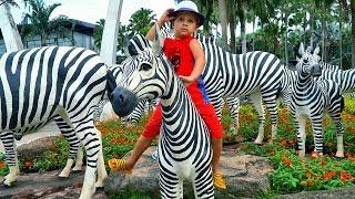 Рома и Диана в красивом Тропическом парке, влог для детей