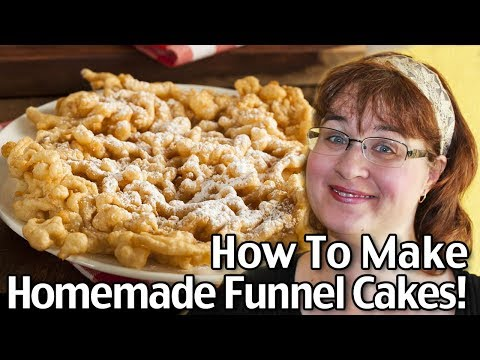 How to make homemade funnel cakes from scratch easy for How to make a homemade cake from scratch