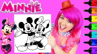 Coloring Minnie & Mickey Mouse Disney Coloring Page Prismacolor Markers   KiMMi THE CLOWN