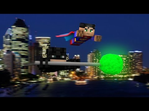 Minecraft : BATMAN VS SUPERMAN - Lucky Block Yarışı ve PvP w/ Oyun Konsolu