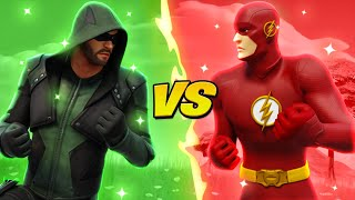 GREEN ARROW vs THE FLASH!